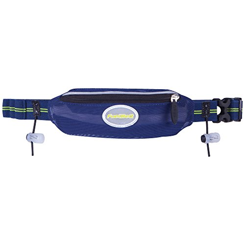 FuelBelt Helium Super-Stretch Race Waistpack, Deep Sea Blue/Lagoon Green