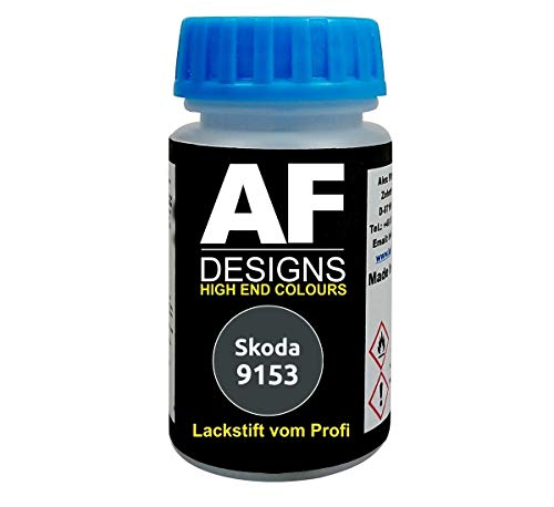 Lackstift für Skoda 9153 Anthracite Grey Metallic schnelltrocknend Tupflack Autolack