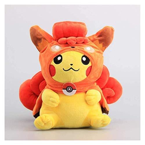 Pokémon Pikachu Cosplay Sonriendo Cara Muñecas de Felpa Lindo Suave Relleno de Peluche 30 cm niños Pokemon de Felpa Peluche Pikachu WYYHYPY