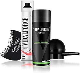 VidalForce ⏤ Starter Pack (Bomba + Optimizador + Micro fibra capilar 275 gr + Fijador fibras capilares) ⏤ Pack para ocult...