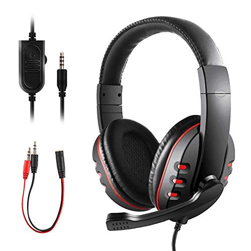 Gaming Headset for PS4 Xbox One, JAMSWALL 3.5mm Wired Over-head Stereo...