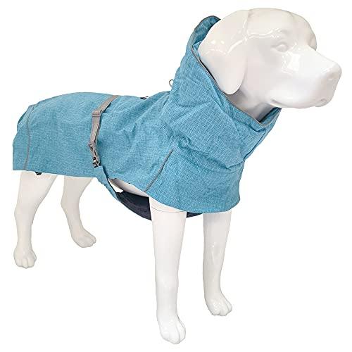 Croci Hiking Hundemantel, wasserdicht, für Hunde, gefüttert, Wintermantel, Thermofutter, türkis, Größe 35 cm - 194 g