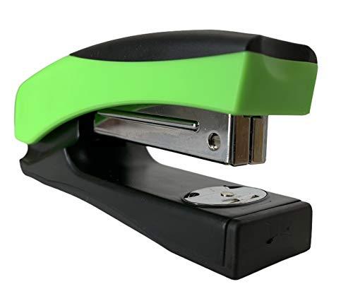 Grapadora Oficina 20 Hojas de Capacidad Usa Grapas 22/6-24/6 mm Grapadora sin Grapas (Verde)