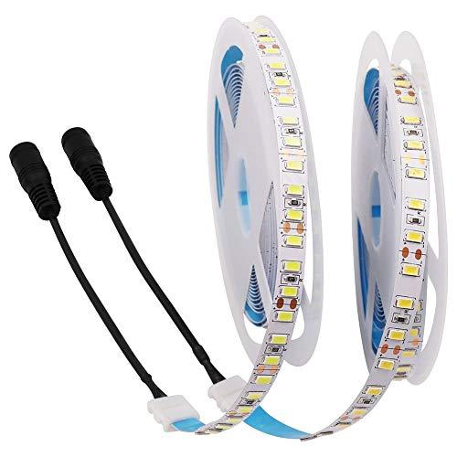 XUNATA - Tira de luces LED (12 V, 600 ledes, SMD 5730, no resistente al agua), blanco cálido, 5,0 m