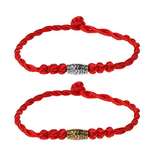 1X Jade Beads Red String Rope Bracelet Good Luck Lucky Success Moral Amulet YL