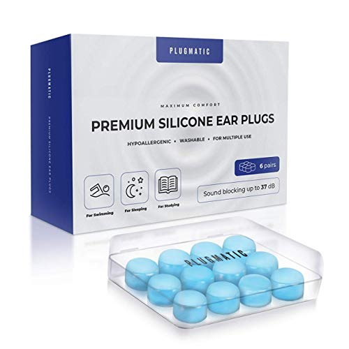 Ear Plugs for Sleeping, Silicone Moldable Reusable Waterproof Sound Blocking for Swimming, Travel, Snoring, Studying, Concerts, Shooting, Musicians, Highest Noise Reduction 32dB NRR Title