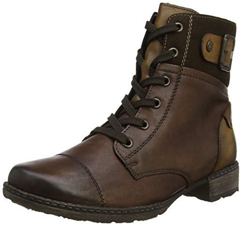 Remonte Damen D4368 Combat Boots, Braun (Mahagoni/Moro/Schoko 25), 44 EU