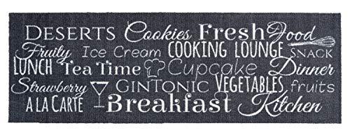 ASTRA Küchenmatte rutschfest Küchenteppich Teppichläufer Küche Läufer Teppich Küchenläufer grau weiß