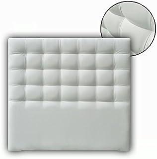 Ventadecolchones - Cabecero Tapizado Acolchado de Dormitorio Modelo Cube Largo en Tela Antimanchas Essence Gris Antracita y Medidas 136 x 125 cm para Camas de 120 ó 135