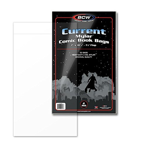 BCW Supplies 2 Mil Current Comic Mylar (50 Count Pack)