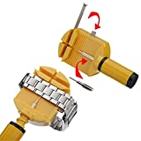 SolPortalHome Uhr Stiftausdrücker Armbandkürzer Stiftaustreiber Uhrenwerkzeug gelb + 3 Stifte
