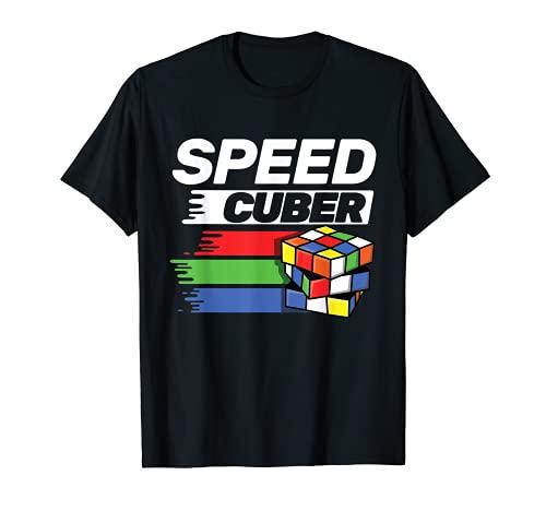Speed Cubing Puzzle Cubing Cuber Kids T Shirt T-Shirt