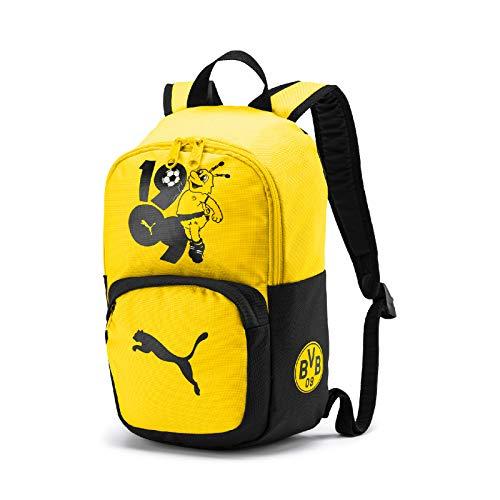 PUMA Unisex– Erwachsene BVB Kids Backpack Rucksack, Cyber Yellow Black, UA