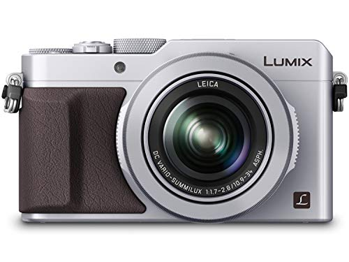 PANASONIC LUMIX LX100 4K Point and Shoot Camera, 3.1X LEICA DC Vario-SUMMILUX F1.7-2.8 Lens with Power O.I.S, 12.8 Megapixel, DMC-LX100S (USA SILVER) (Renewed)