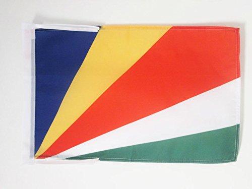 AZ FLAG Flagge Seychellen 45x30cm mit Kordel - Republik Seychellen Fahne 30 x 45 cm - flaggen Top Qualität