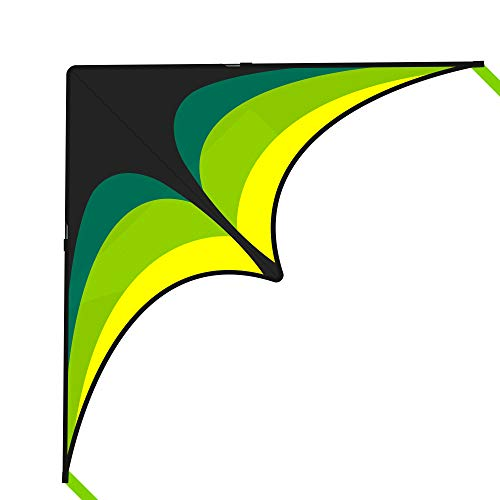 Mint's Colorful Life Delta Kite for Kids & Adults, Extremely Easy to Fly Kite with 2 Ribbons and 300ft Kite String, Best Kite for Beginner