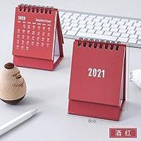 カレンダー 2021年 2021シンプルミニデスクトップペーパーシンプルカレンダーデュアルデイリースケジューラテーブルプランナー年間アジェンダオーガナイザー 2021年 (Color : Blue control)