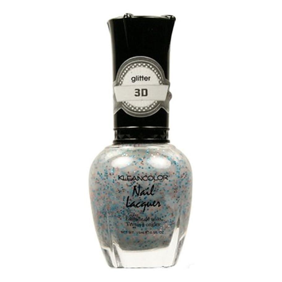 法廷呼吸広々(3 Pack) KLEANCOLOR 3D Nail Lacquer - Mine & Only (並行輸入品)