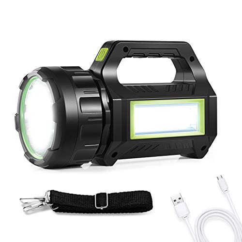 Rechargeable Camping Light, LED Lantern flashlight, 1000 lumens Rechargeable Camping Spotlight, With 4600mAh Mobile Power bank, IPX4 Waterproof, Hurricane Emergency, 7 lighting Modes