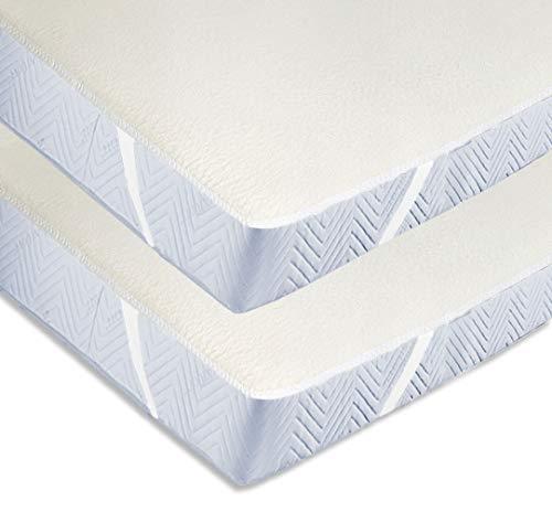 ZOLLNER 2 Protectores de colchón de algodón Cama 140, 140x200 cm, Varias Medidas