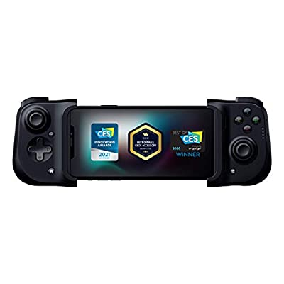 Razer Kishi Mobile Game Controller / Gamepad for iPhone iOS: Works with most iPhones – iPhone X, 11, 12 - Apple Arcade, Amazon Luna, Google Stadia - Lightning Port Passthrough - MFi Certified by Razer
