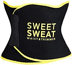 Black and Yellow Premium Waist Trimmer Sports Research Sweet Sweat for Men Women Includes Free Breathable Carrying Case S