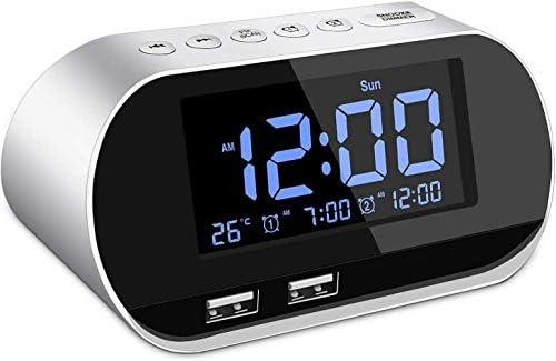 Alarm Clock Radio FM with Sleep Timer Dual USB Ports for Charging Dual Alarms Digital Display product image