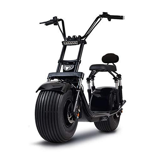 LMEIL Elektrisches Motorrad Elektrische 50V 1500W Fat Tire Scooter Lithium Batterie Mit 2 Sitz Power Scooter...