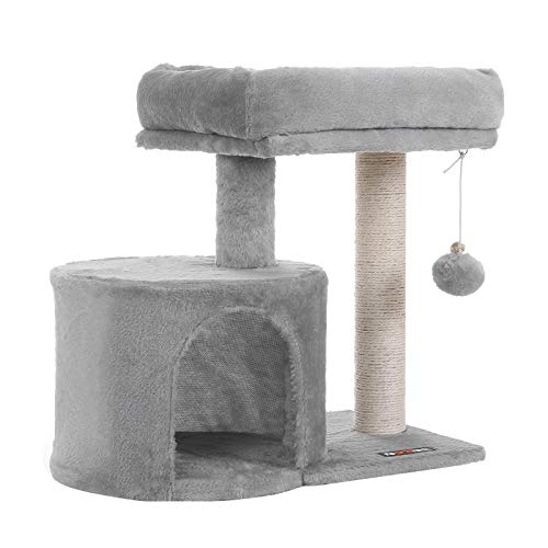 FEANDREA Cat Tree Tower Condo Scratching Posts for Kitten UPCT50W