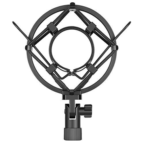 Neewer Universal 45MM Microphone Montura de Choque para Micrófono de Condensador de Diámetro 43MM-46MM (Negro)