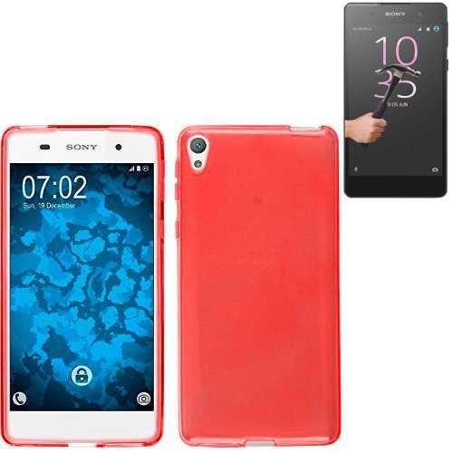 Todobarato24h Funda TPU Lisa Compartible con Sony Xperia XA Ultra Roja + Protector de Cristal Templado