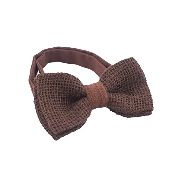 Rustic Pre-Tied Bow Tie in 100% Burlap Hessian for Adults & Children, by Bow Tie House