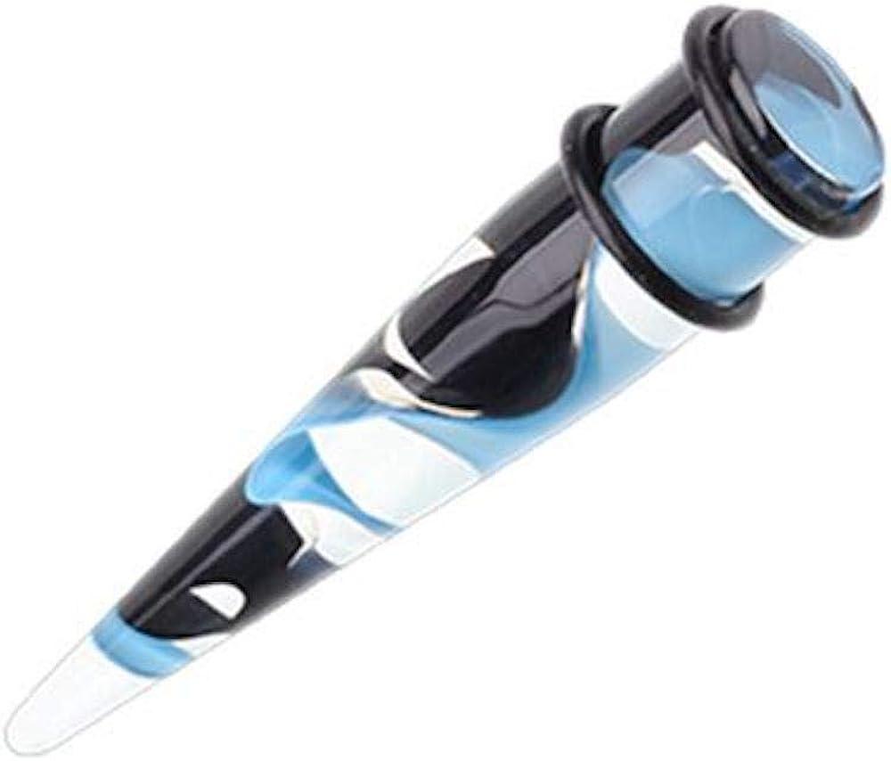 Covet Jewelry Retro Lava Lamp UV Acrylic Ear Stretching Taper