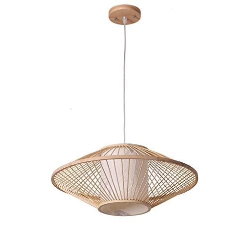 TQQ Iluminación colgante Lámpara Lampara de doble cabeza de bambú lámpara rota rural 50cmX 20cm