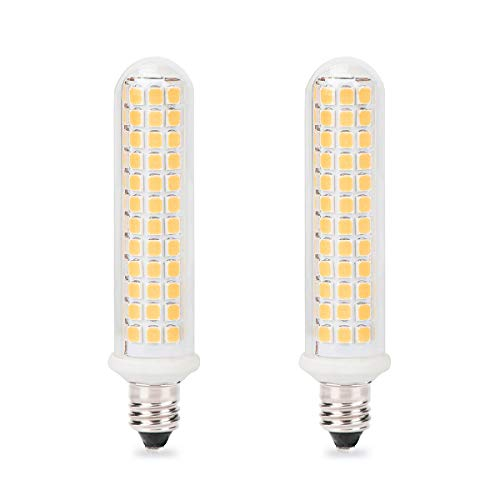 E11 LED Bulb, Mini Candelabra Base, 100W 120W Halogen Bulb Replacement,10W,1100LM, AC120V, Dimmable E11 LED Light Bulb, Patented Product, for Indoor Decorative Lighting, Warm White 3000K, 2-Pack