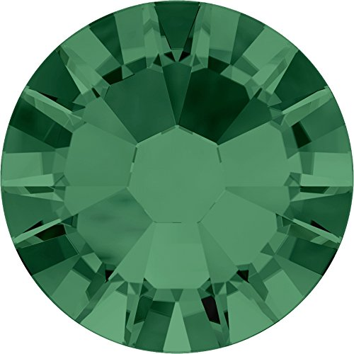 Pack of 144SWAROVSKI Crystals 2058Without Glue (SS051.8mm), Crystal Glass, Emerald, SS05 (ca. 1.8mm)