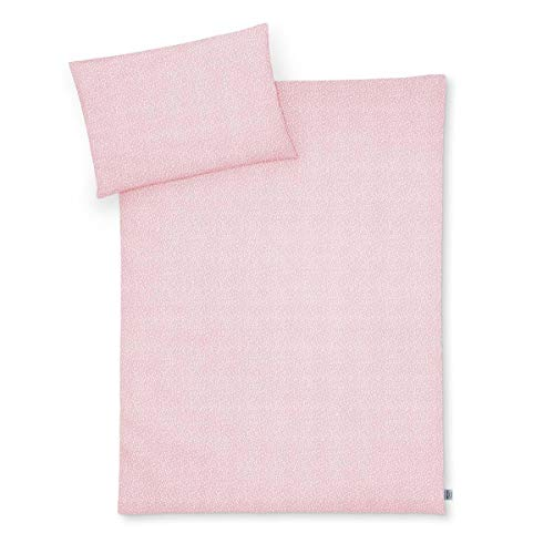 Julius Zöllner Jersey Bettwäsche 100x135 + 40x60 cm Tiny Squares Blush