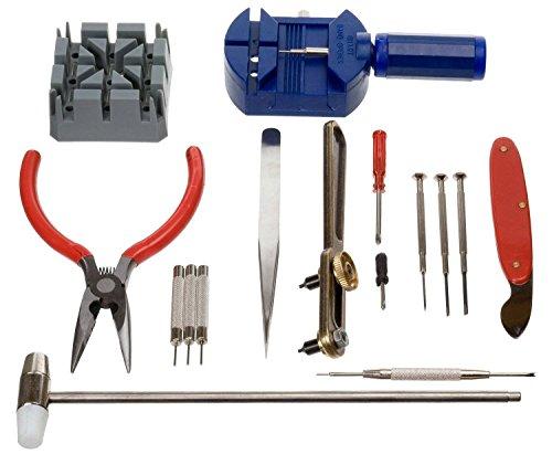tempo di saldi Kit de reparación de Relojes Profesional para Abrir Cajas, Mallas, batería y Correa de 16 Unidades