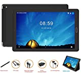 Tablette Android 10 pouces Tablette Android 8.0,4G Phablet avec 3 slots (double SIM+ SD), processeur quadricoeur, 1.5GHz, 3G+32GB, double caméra, WiFi, Bluetooth, GPS