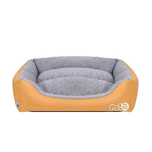 YXZQ Hundebetten waschbar, hochwertiges therapeutisch unterstützendes Bett, lindert Haustierarthritis, ideal für Hundekatzen im heißen Sommer, abnehmbar und leicht zu reinigen, gelb, L.