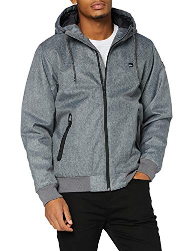 Quiksilver Brooks 5k - Chaqueta Impermeable Con Capucha Para Hombre Chaqueta Impermeable Con Capucha, Hombre, medium grey heather, M
