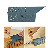 Woodworking Scribe 3D Mitre Angle Measuring Square Size Measure Tool with Gauge Ruler 3D Mitre Angle Measuring Ruler