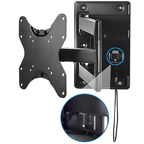 Mount-It! Lockable RV TV Wall Mount with Quick Release, Full Motion Flat Screen Bracket for Campers, Travel Trailers, RVs, Motorhomes and Marine Boats, Fits Most 23-43″ VESA 100, 200, 77 Lbs Capacity