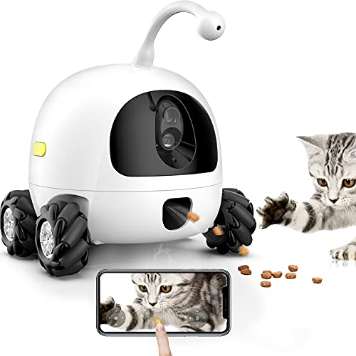 obexx Rocki Pet Companion Robot Interactive Toy for Cats and Dogs,Mobile pet Treat Laser...