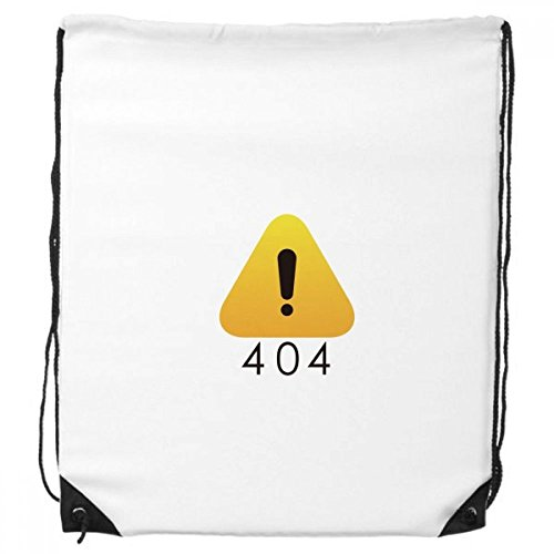 Programador 502error advertencia cordón mochila bolso de mano compras regalo bolsas de deporte