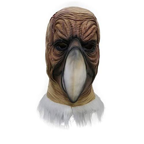 tytlmask Karneval Tier Kostüm Latex Hawk Maske, Adult Geier Kostüm, Für Maskerade Phantasie Party Maske Cosplay, Realistische Tier Thema Masken