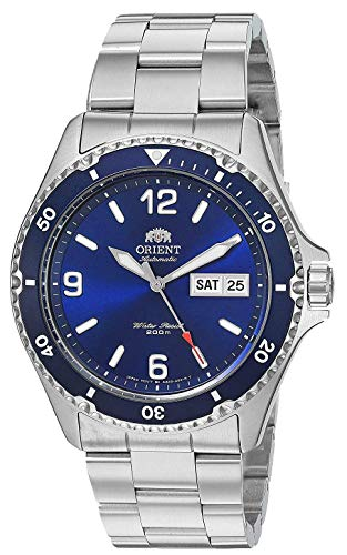 Orient Men's Mako II Japanese Automatic Sport Watch with Stainless Steel Strap, Silver, 20.3 (Model: FAA02002D)