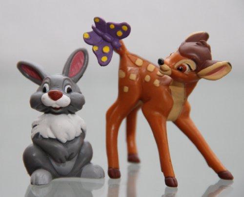 Bullyland - BAMBI & THUMPER/KLOPFER - Figur : BAMBI / ca. 6 cm + THUMPER-Hase (Bambi) / ca. 5 cm - Walt Disney