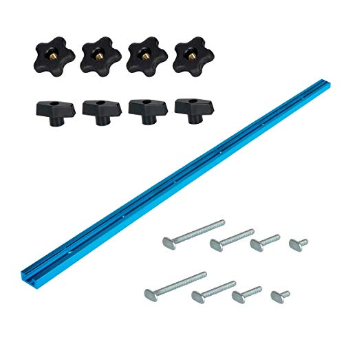 POWERTEC 71170 Universal T-Track Kit; Including 48' T-Track & 16Piece Hardware Kit, 17 Pk