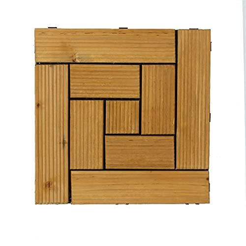 20pcs Azulejos De Cubierta Al Aire Libre De Madera Deck De Madera Tile Patio Balcón Balcón Jardín De Techo 30 Cm X 30 Cm Cuadrado Drinkwood Decking Tile (Color : J)